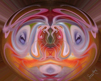 Observing The Flow - 2 Art Print