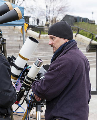 Photograph - Observing The Mercury Transit by Josef Pittner