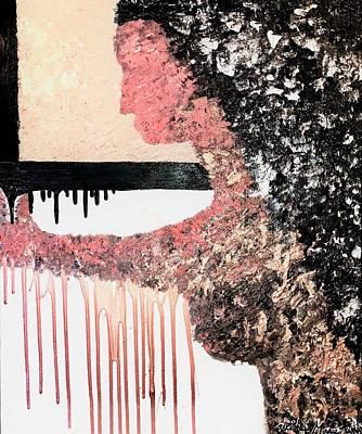 Painting - Obsidian Blush by Alisha Anglin