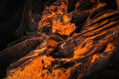 Photograph - Obsidian Rock - Lava Flow by  Onyonet  Photo Studios
