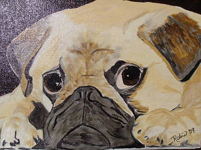 Pug Face Painting - Obstinence by Robin England