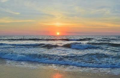 Photograph - Obx Sunrise June 4 2017 by Barbara Ann Bell