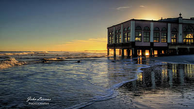 Photograph - Oc Music Pier Sunset by John Loreaux