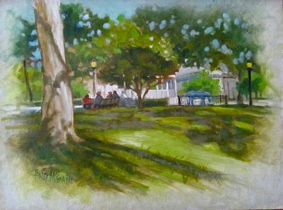 Ocala Park Fl Art Print by Janet McGrath