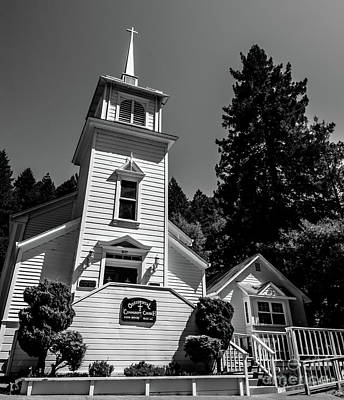 Photograph - Occidental Church Sonoma County by Blake Webster