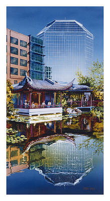 Oriental Lily Painting - Occidental Oasis by Mike Hill