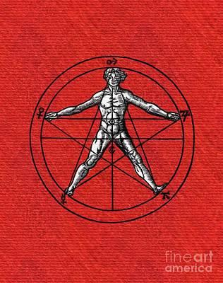 Painting - Occult, Alchemy, Masonic, Symbolism by Pierre Blanchard