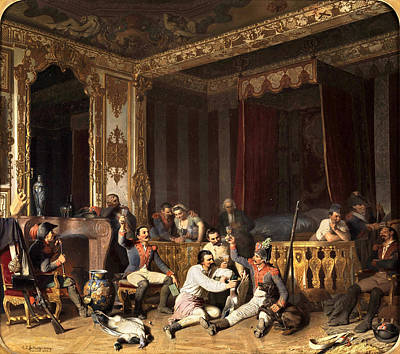 Reinhard Painting - Occupation Of A Palace By French Soldiers by Reinhard Sebastian Zimmermann