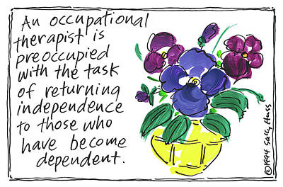 Painting - Occupational Therapist by Sally Huss