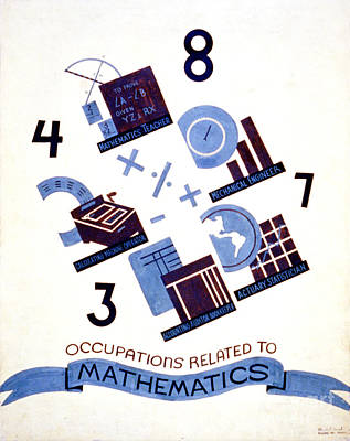 Occupations Related To Mathematics Art Print by Celestial Images
