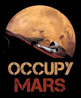 Astronauts Mixed Media - Occupy Mars by Filip Hellman