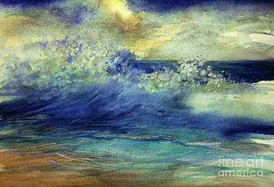 Art Print featuring the painting Ocean by Allison Ashton