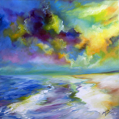 Painting - Ocean And Beach by Marcia Baldwin