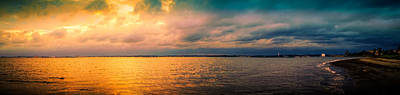 Photograph - Ocean And Clouds At Sunset by Lilia D