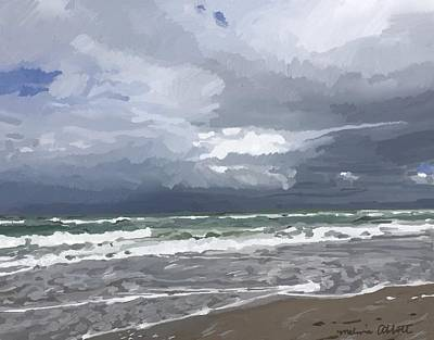 Painting - Ocean And Clouds Over Beach At Hobe Sound by Melissa Abbott