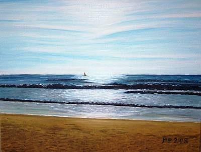 Ocean And Light Art Print by Madeleine Prochazka