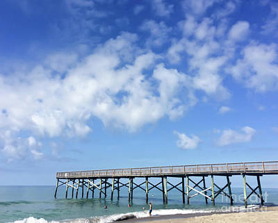 Photograph - Ocean And Pier - Atlantic Beach North Carolina by Kerri Farley