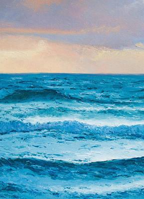 Tropical Art Painting - Ocean Art 1 by Jan Matson