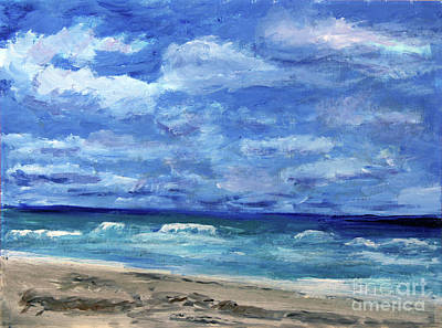 Painting - Ocean At Delray Beach On Breezy Day by Donna Walsh
