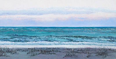 Peaceful Scene Painting - Ocean At Dusk by Jan Matson