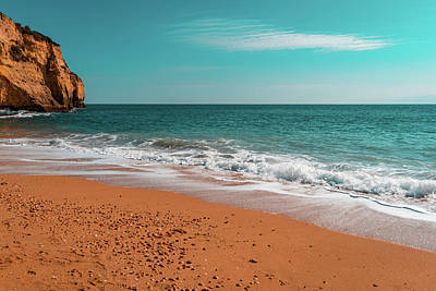 Photograph - Ocean Beach In Teal And Orange by Georgia Mizuleva