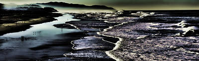 Art Print featuring the photograph Ocean Beach Night by Steve Siri