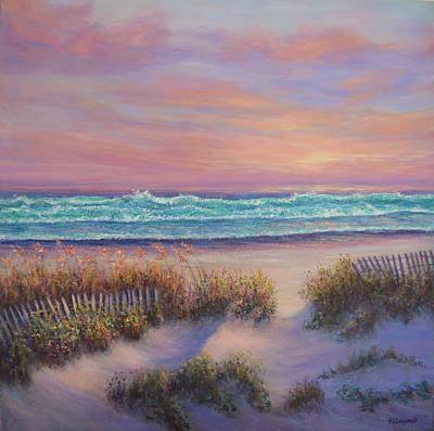 Painting - Ocean Beach Path Sunset Sand Dunes by Amber Palomares