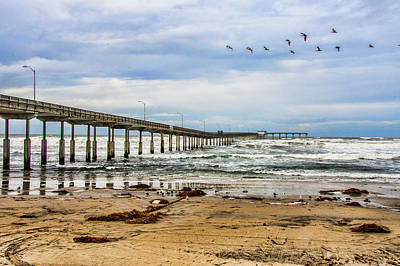 Photograph - Ocean Beach Pier Fishing Airforce by Daniel Hebard