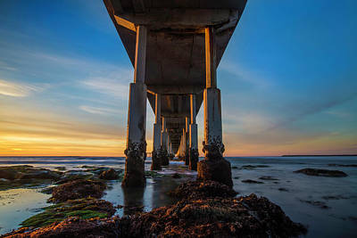 California Beach Photograph - Ocean Beach Pier by Larry Marshall