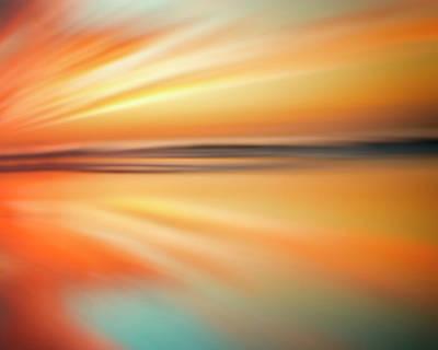Ocean Beach Sunset Abstract Art Print