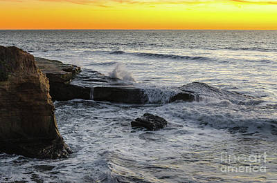 Photograph - Ocean Beach Sunset by Mike Ste Marie