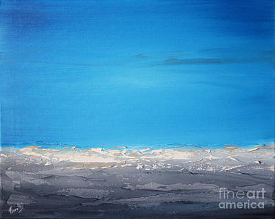 Painting - Ocean Blue 1 by Preethi Mathialagan