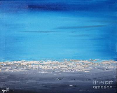 Painting - Ocean Blue 3 by Preethi Mathialagan