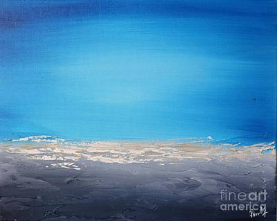 Painting - Ocean Blue 5 by Preethi Mathialagan