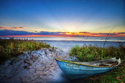 Photograph - Ocean Blue At Dawn by Debra and Dave Vanderlaan