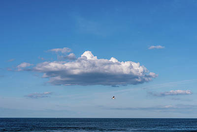 Photograph - Ocean Blue Clouds Jersey Shore  by Terry DeLuco