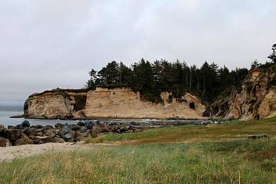 Photograph - Ocean Bluffs In Oregon  by Christy Pooschke