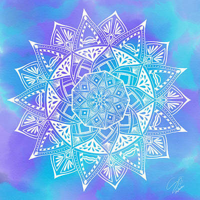 Digital Art - Ocean Breeze Mandala by Lisa Schwaberow