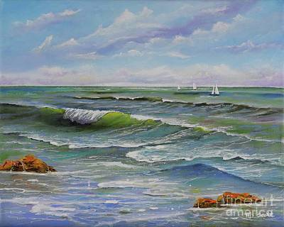 Painting - Ocean Breeze by Mary Scott