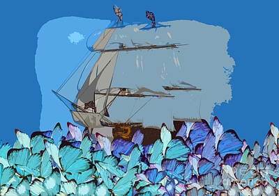 Ocean Butterflies Original