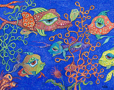 Under The Ocean Painting - Ocean Carnival by Tanielle Childers