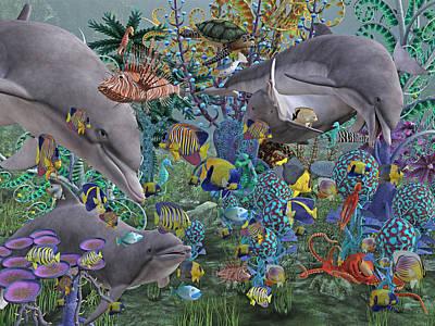 Fantasy Digital Art - Ocean Circus by Betsy Knapp