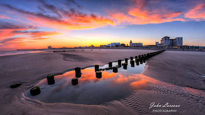 Photograph - Ocean City Afterglow by John Loreaux