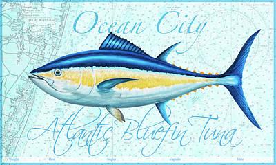 Wall Art - Painting - Ocean City Bluefin by Guy Crittenden