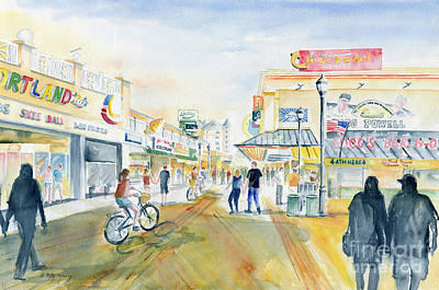 Painting - Ocean City Boardwalk by Melly Terpening