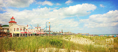 Photograph - Ocean City Boardwalk Music Pier And Beach by Beth Ferris Sale