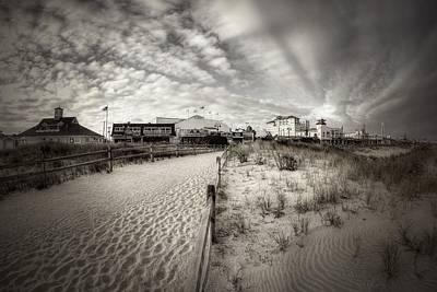 Photograph - Ocean City Bw by John Loreaux