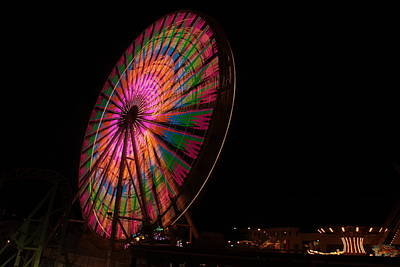 Photograph - Ocean City Ferris Wheel 2 by George Miller