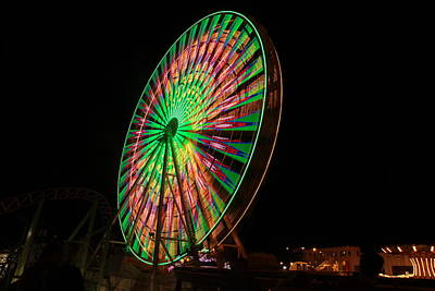 Photograph - Ocean City Ferris Wheel by George Miller