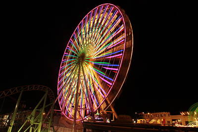 Photograph - Ocean City Ferris Wheel1 by George Miller